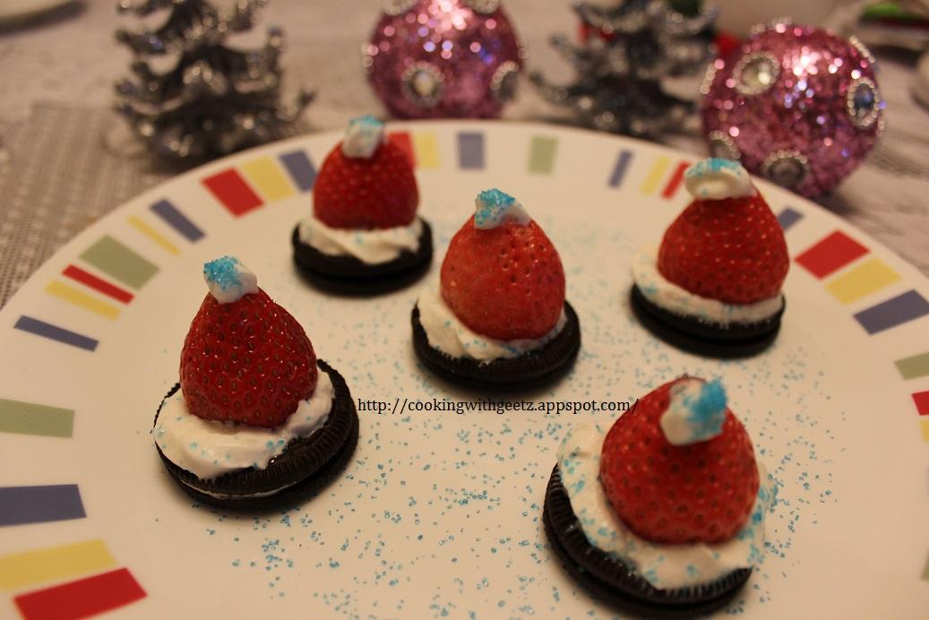 Oreo Santa Hat Cookies